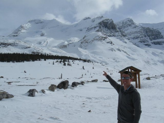 Athabasca in March of 2011. Insane amount of snow on the North Face.