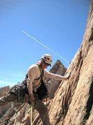 Rock Climbing Photo: Stemming on start of P4