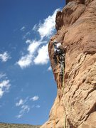 Rock Climbing Photo: Andy on P5