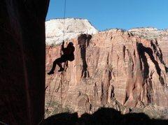 Rock Climbing Photo: Myself jugging on the headwall of Desert Shield, Z...