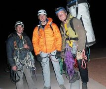 Rock Climbing Photo: Joe, Dave, and myself after a Thanksgiving ascent ...