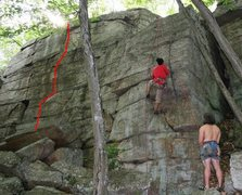 Rock Climbing Photo: Seams About Right, with Seams Like Fun being the v...