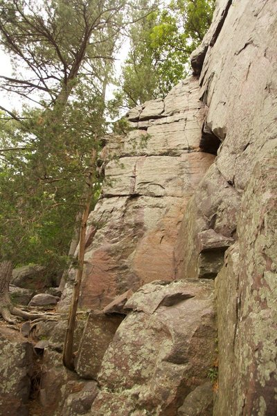 Rock Climbing Photo: Climb to the right of the left corner.