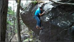 Rock Climbing Photo: Remo finishing it up.