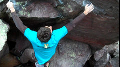 Rock Climbing Photo: The trick bicycle move.