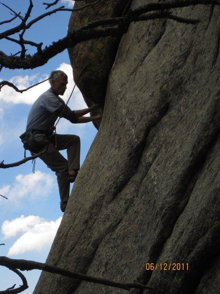 Rock Climbing Photo: Kent P. gracing through amazingly smooth!