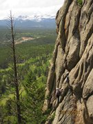 Rock Climbing Photo: Gabe and his wife at the first belay on Amazing Gr...