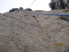Rock Climbing Photo: Smooth and steep, bolted on lead ground up...what ...