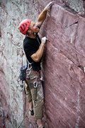 Rock Climbing Photo: Moving through the last crux