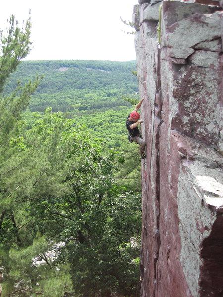 Rock Climbing Photo: Fishing in the last small gear!