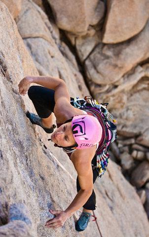 Rock Climbing Photo: climbing sail away, JTree, 2010