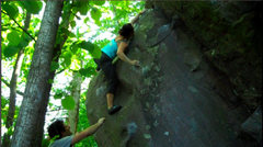 Rock Climbing Photo: Katie FA's the broken Anchorpoint.  The top is a b...