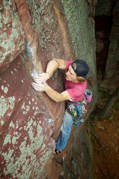 Rock Climbing Photo: Feeling good on Mouse's Misery.