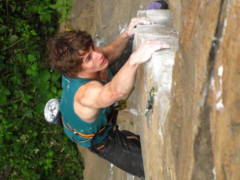 Rock Climbing Photo: The rail of Dracula. Classic moves