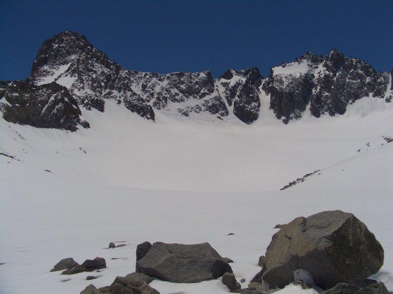 Palisades and Palisade Glacier on 06/07/02011