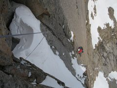 Rock Climbing Photo: Following the 'mushroom' pitch on an early season ...
