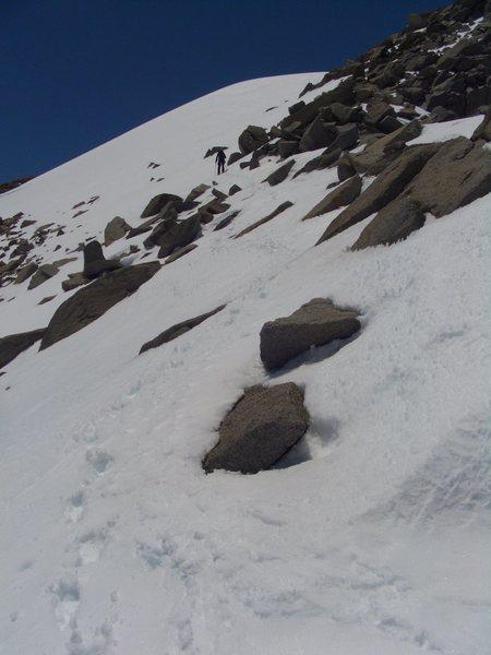 Dave Stillman on the southeast ridge of Polemonium Peak, 06/09/2011