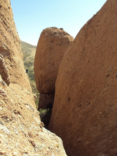 Looking south, into The Canyon and at The Egg at Texas Canyon.