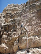 Rock Climbing Photo: Scott about halfway up 'Jack and Jill go Bolting'
