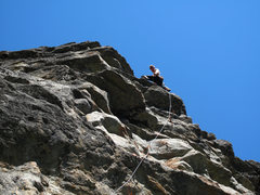 Rock Climbing Photo: After the last roof of Halcyon Daze