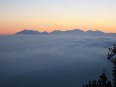 Rock Climbing Photo: San Gabriels from Rim of the World (Hwy 18) on a J...