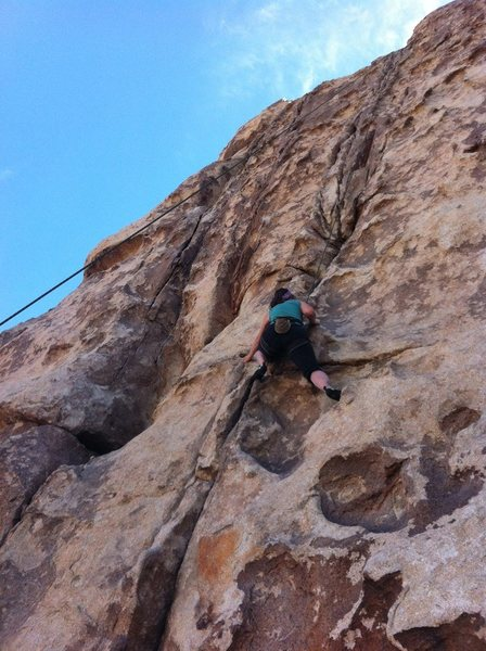 Rock Climbing Photo: On Dairy Queen Wall in Joshua Tree National Park