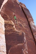 Rock Climbing Photo: Crack climbing in Indian Creek UT. Blue Sun would ...