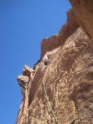 Rock Climbing Photo: Shingo higher on P2