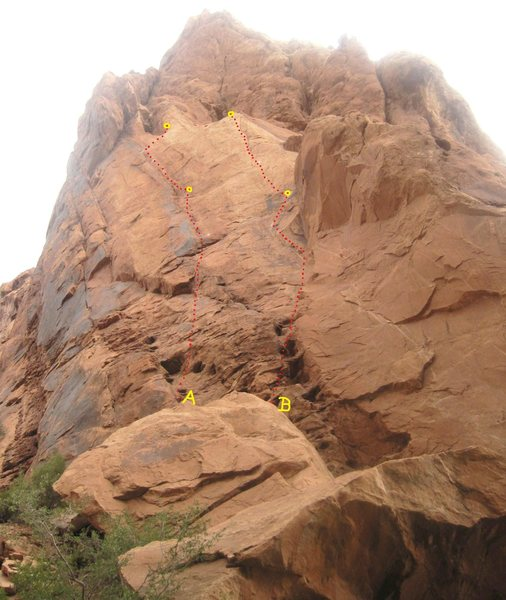 A) The Anglo/Japanese Route 5.8 B)A Touch of Sushi.5.8+