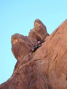 Rock Climbing Photo: Paul passing bolts on P2