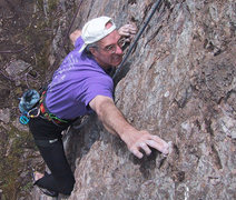 "Rock Climbing Photo: ""Phil"" at the crux on That 10, Phil's Hi..."