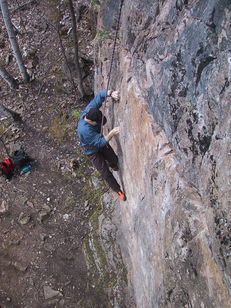 "Rock Climbing Photo: Climber on ""Left"" at Phli's Hill"