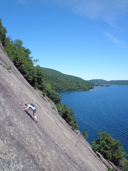 Rock Climbing Photo: Climber on Little Finger