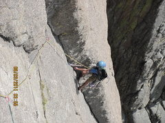 Rock Climbing Photo: joe on P2 hiautus