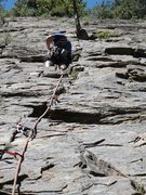 Rock Climbing Photo: First trad lead. Tree Root, Sespe Gorge. Sewn up f...