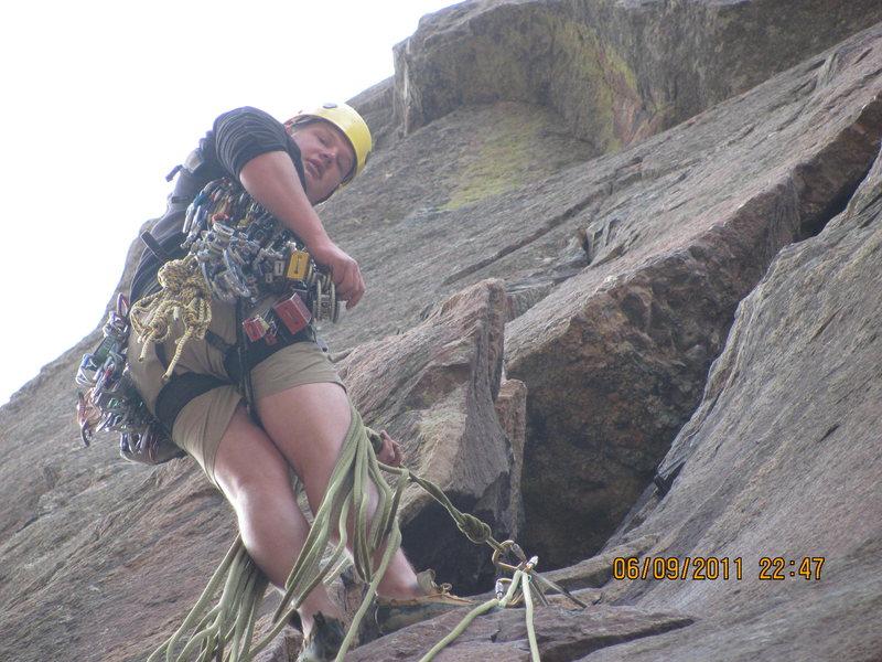 Rock Climbing Photo: top of P1 basitille crack