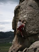 Rock Climbing Photo: Kim Miller gettin' a lap on Scorpio Rising.  He's ...