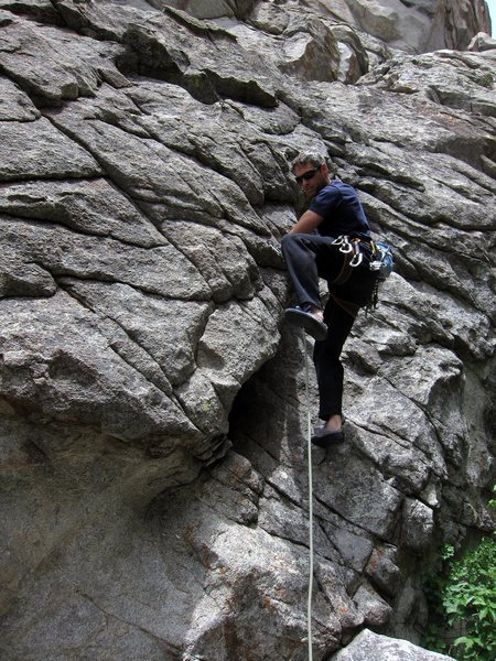 Rock Climbing Photo: Matt at the start of Scorpio Rising