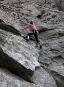 Rock Climbing Photo: LeAnn starting It Takes Two.  Could almost place s...