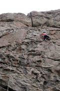 Rock Climbing Photo: LeAnn on the neat upper face on the first pitch of...