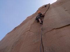Rock Climbing Photo: Me leading Ol Red
