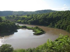 Rock Climbing Photo: The outlook over the River Wye from the cliff. (ph...