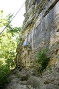 Rock Climbing Photo: Michael McKay climbs through the opening layback s...
