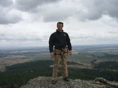 Rock Climbing Photo: At the top of Big Rock looking out over the Palous...