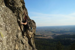 Rock Climbing Photo: First pitch of Council of Elders.