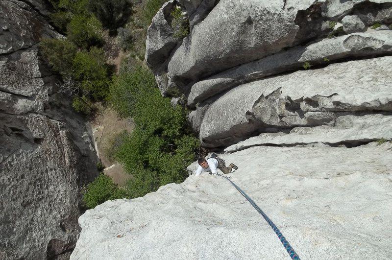 "Rock Climbing Photo: Jordan on ""Mystery Bolter"""
