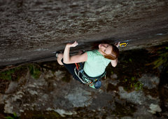 Rock Climbing Photo: Lisel Petersen pulling down on great expectations....