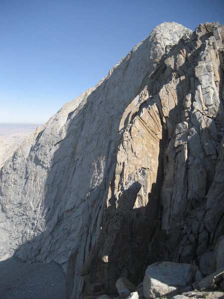 Rock Climbing Photo: southwest face from the start of the descent gully...