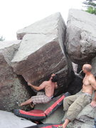 Rock Climbing Photo: Going for the sloper.