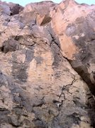 Rock Climbing Photo: Walk starts up the crack left of the dihedral, up ...